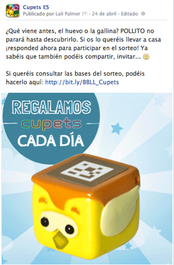 Cupets Facebook